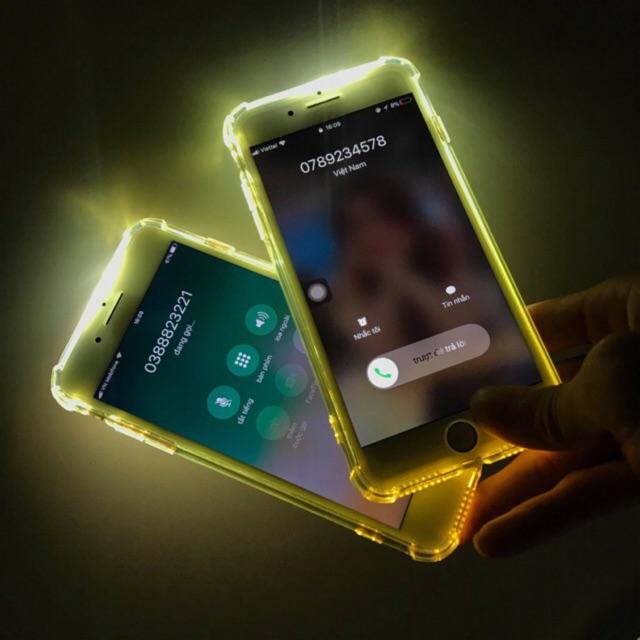 Ốp lưng Iphone Silicon chống sốc. Phát sáng khi bật đèn Flas.