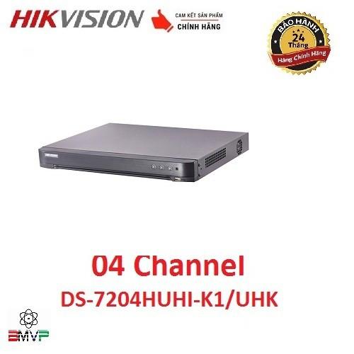 Đầu ghi hình 4 kênh Turbo HD 4.0 Hikvision DS-7204HUHI-K1/UHK - Hàng chính hãng