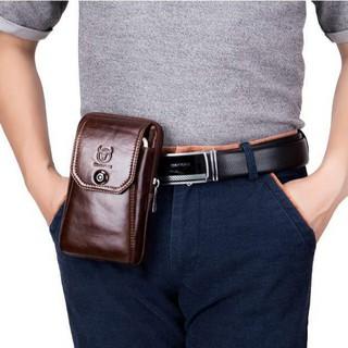 Túi đeo hông, túi đeo thắt lưng DA BÒ THẬT có dây để đeo chéo – Bullcaptain VN
