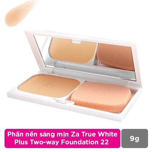 Phấn nền sáng mịn Za True White Plus Two-way Foundation 22 9G - 4531632407708