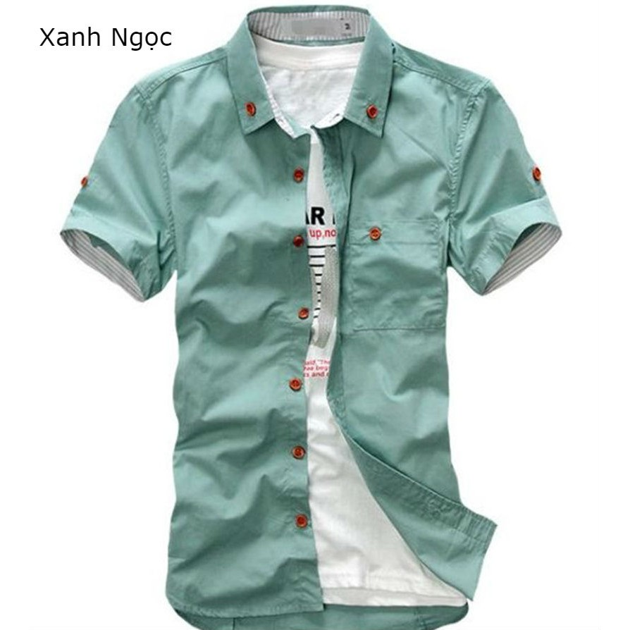 [Freeship từ 99K] Bộ sưu tập áo sơ mi ngắn tay nam Hàn Quốc có túi