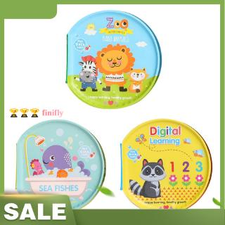 finifly Toddler Baby Toys Bath Cloth Books Waterproof Kids Early Educational Toys Kid