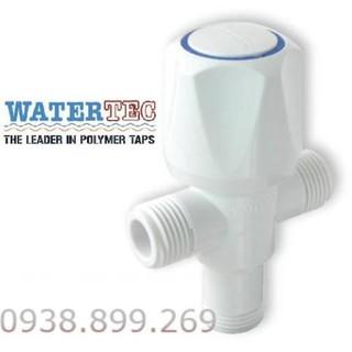 Van 3 ngã tay vặn nhựa trắng ABS WT-001H WATERTEC MALAYSIA – Hàng NK