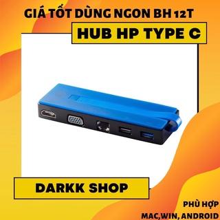 Hub Type C 5in1 – Cổng chuyển đổi HP USB C to HDMI, VGA, LAN, USB 3.0, USB 2.0 bảo hành 12 tháng