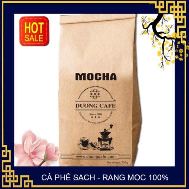 Cà phê Moka rang mộc xay nguyên chất 250g -DƯƠNG CAFE Cà phê Moka rang mộc xay nguyên chất 250g -DƯƠNG CAFE