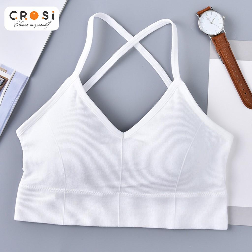 Mặc gì đẹp: Dẻo dai với Áo BRA/GYM/YOGA Cotton vân vải len lạnh, cá tính, thể thao