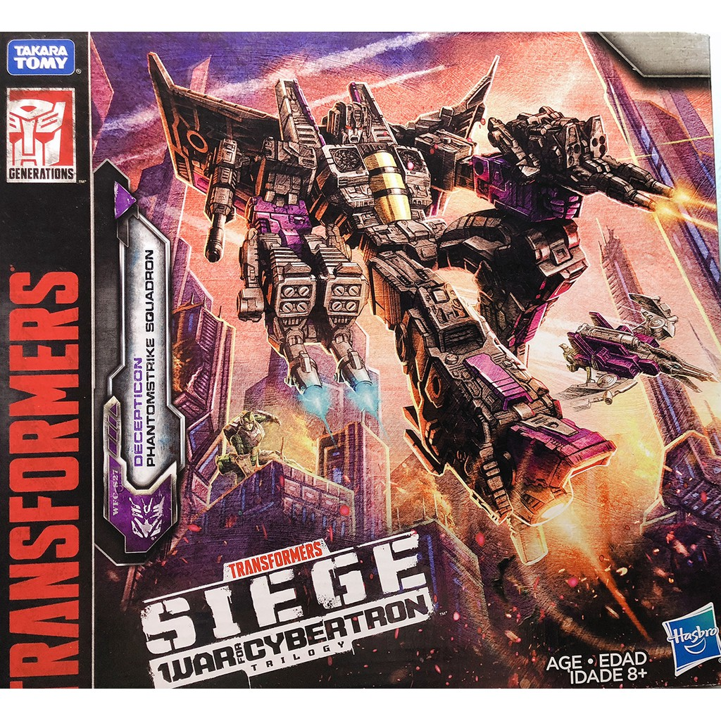 Robot biến hình Transformers Toys Siege War For Cybertron Voyager Wfc-S27 Decepticon Phantomstrike Squadron