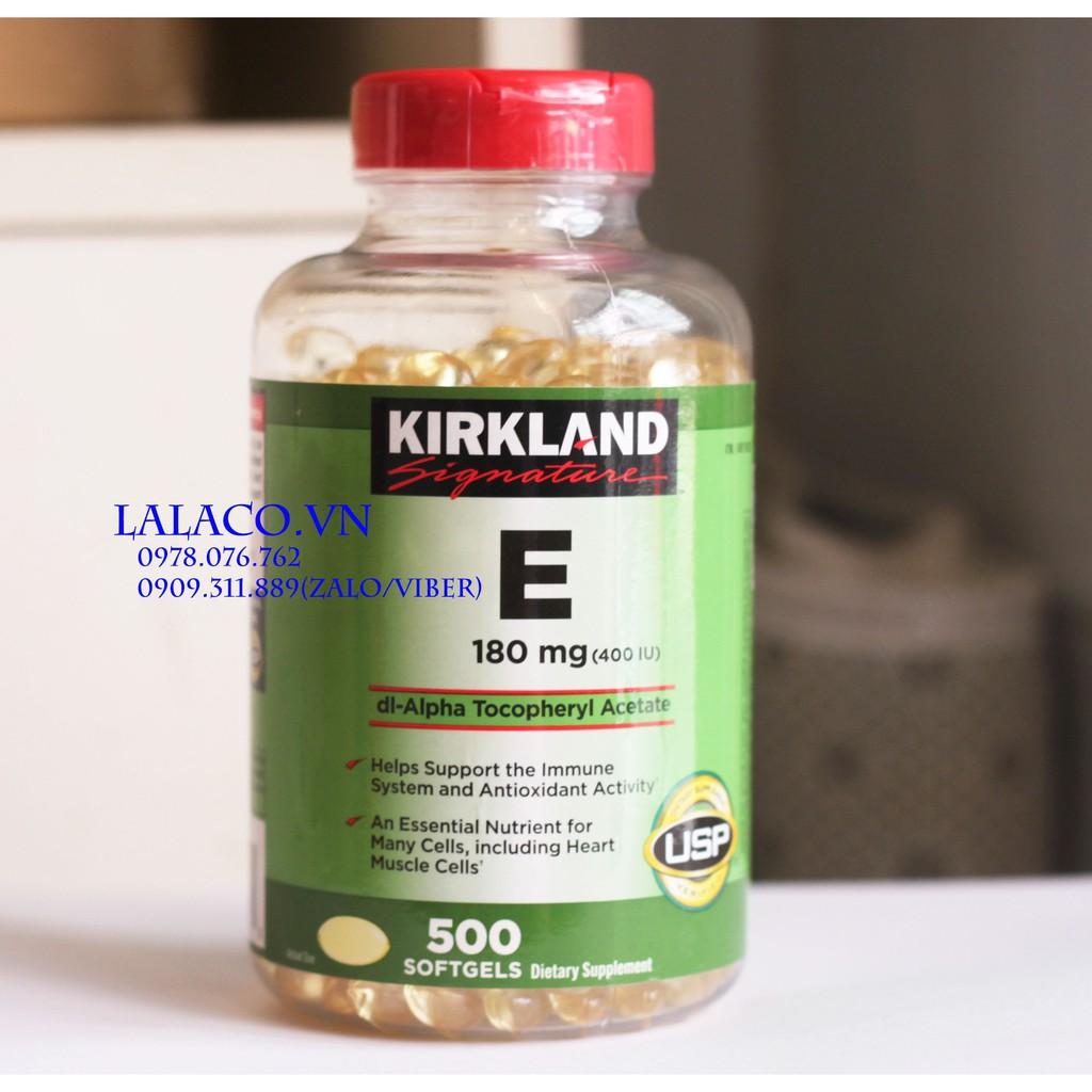 {Mẫu mới} Vitamin E Thiên Nhiên 400 I.U Kirkland Signature 500 Viên Của Mỹ