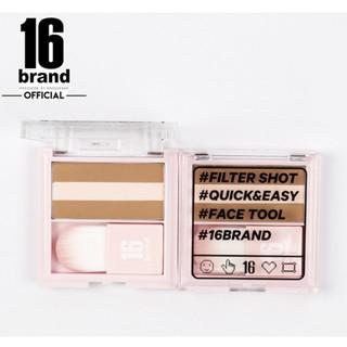 Phấn Tạo Khối Và Highlight Đa Năng 16Brand Filter Shot Contour Peach.