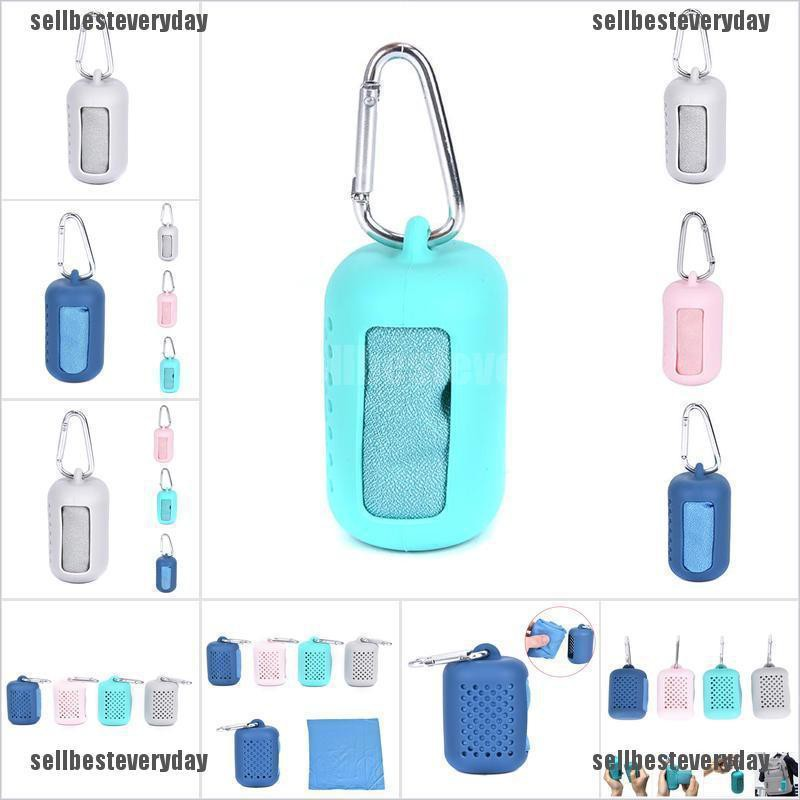 1pc Travel Mini Towel Quick Dry Towel with Silicon Case Tool Sports Towel jelly