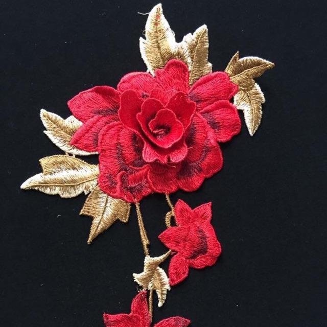 Hoa thêu đính áo dài