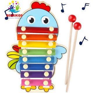 Đồ chơi đàn gỗ Xylophone 8 Quãng hình con vật đáng yêu Cho Bé
