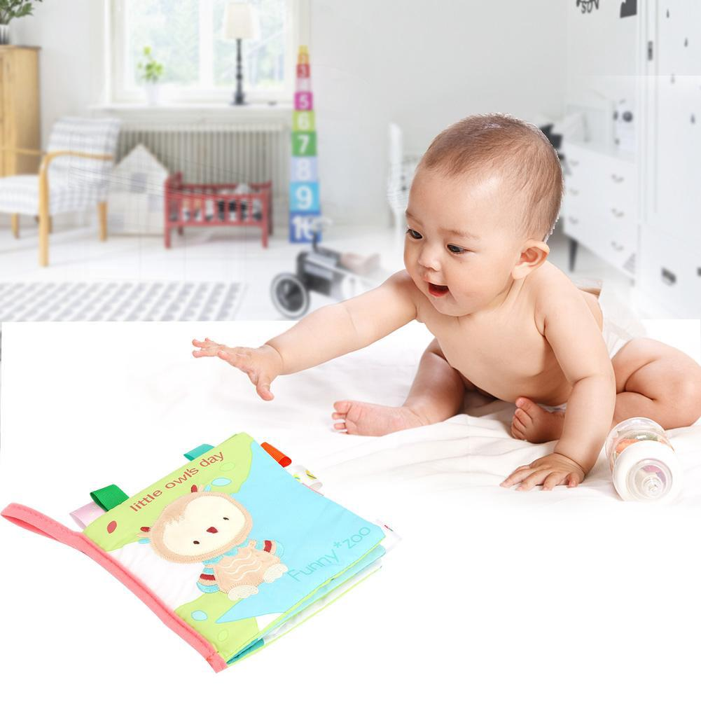 Newborn Babies Toddler Cloth Book Animal Pattern Soft Books Educational Toy