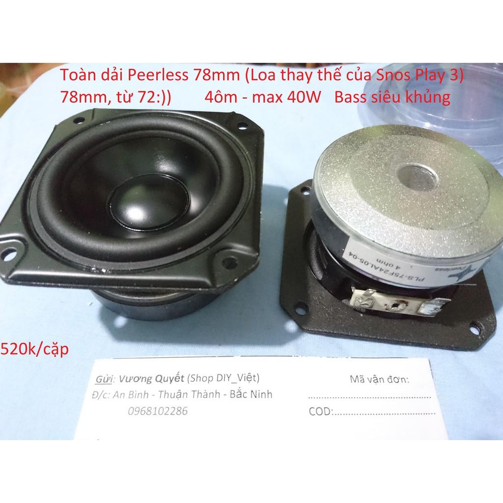 Loa toàn dải Peerless 78mm - 9986808 , 957149206 , 322_957149206 , 520000 , Loa-toan-dai-Peerless-78mm-322_957149206 , shopee.vn , Loa toàn dải Peerless 78mm