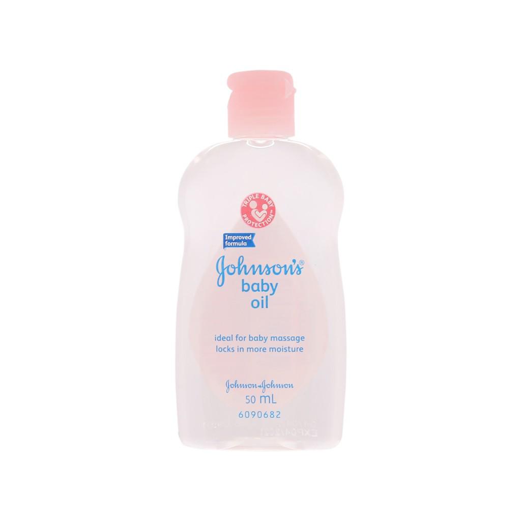 Dầu massage cho bé Johnson's Oil 50ml, 200ml