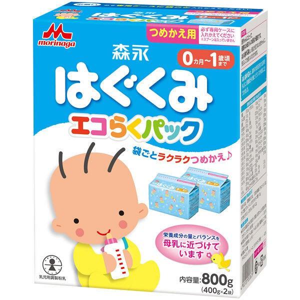 Sữa Morinaga 0-1 dạng hộp giấy 800 (2 gói 400g bên trong)