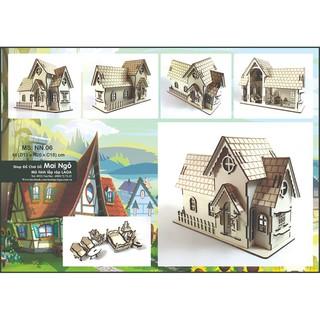 Mô hình lắp ráp 3D_Nhà 06