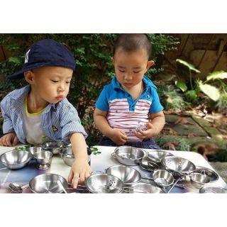 Bộ đồ chơi nấu ăn inox cho bé.