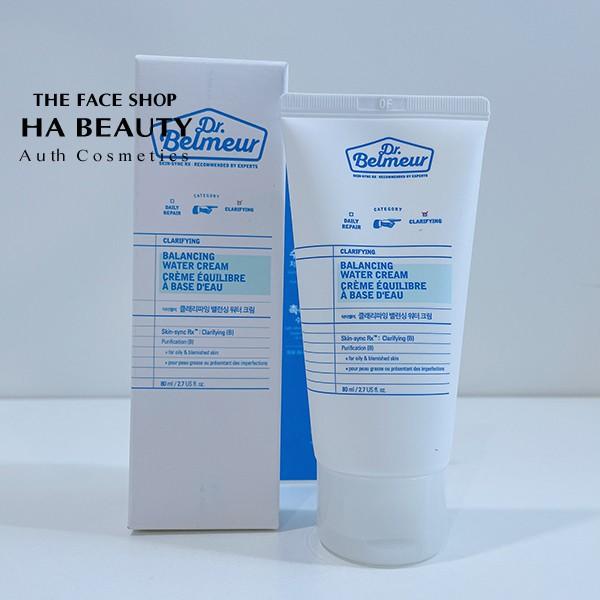 Kem dưỡng cho da mụn The Face Shop Dr Belmeur Clarifying Balancing Water Cream 80ml dưỡng ẩm phục hồi da hư tổn