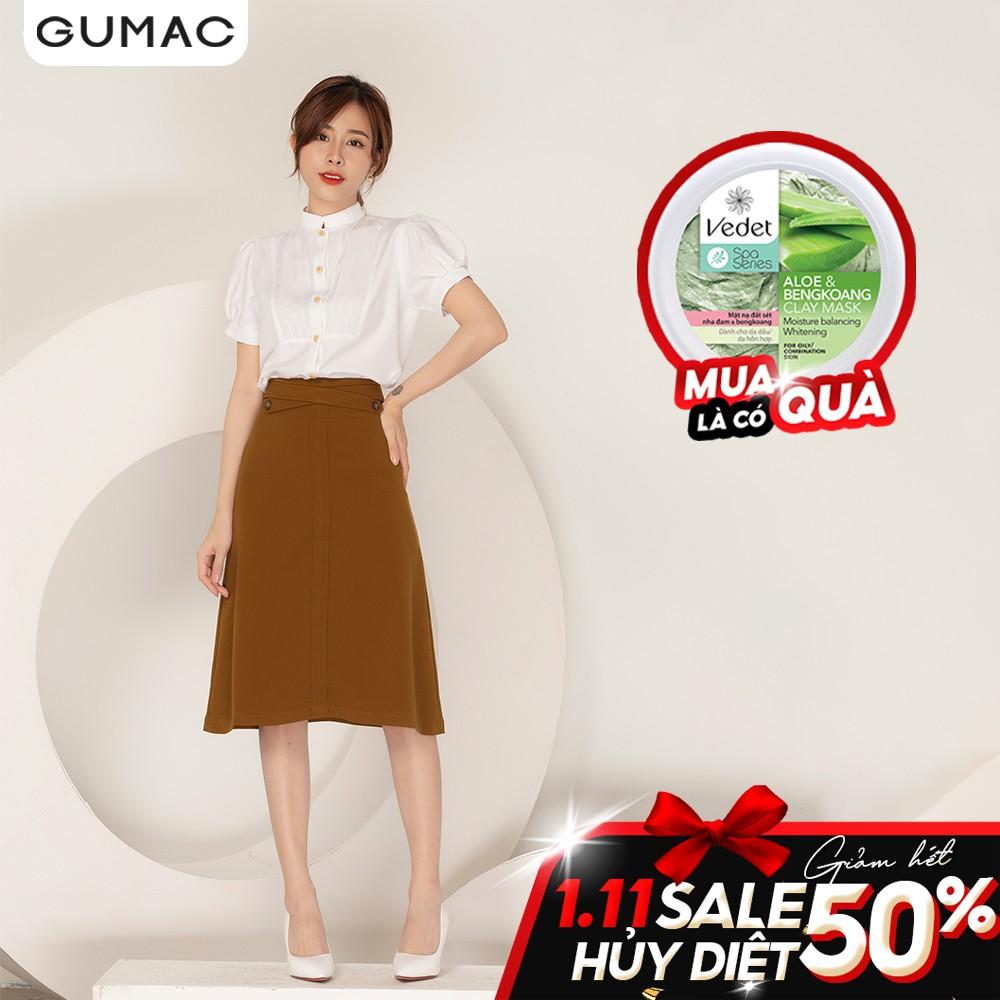 Váy đai chéo phối nút VA967 GUMAC