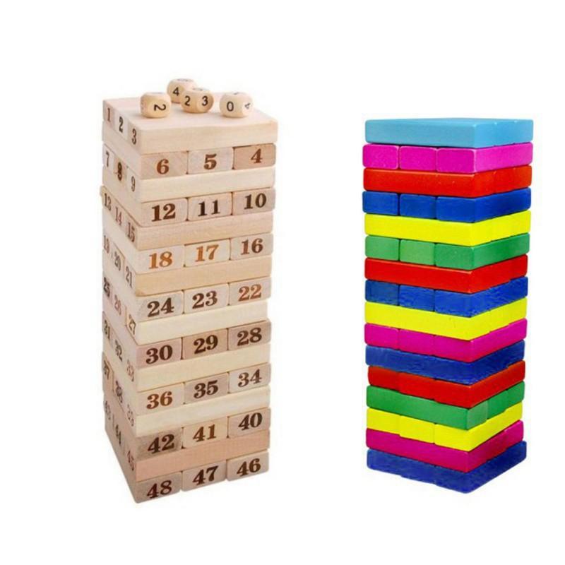 Bộ đồ chơi rút gỗ thông minh gồm 48 thanh dành cho bé Smã 113
