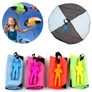 Funny Outdoor Hand Throw Parachute Flying Umbrella Toy Kids Educational Toys Tree Girl
