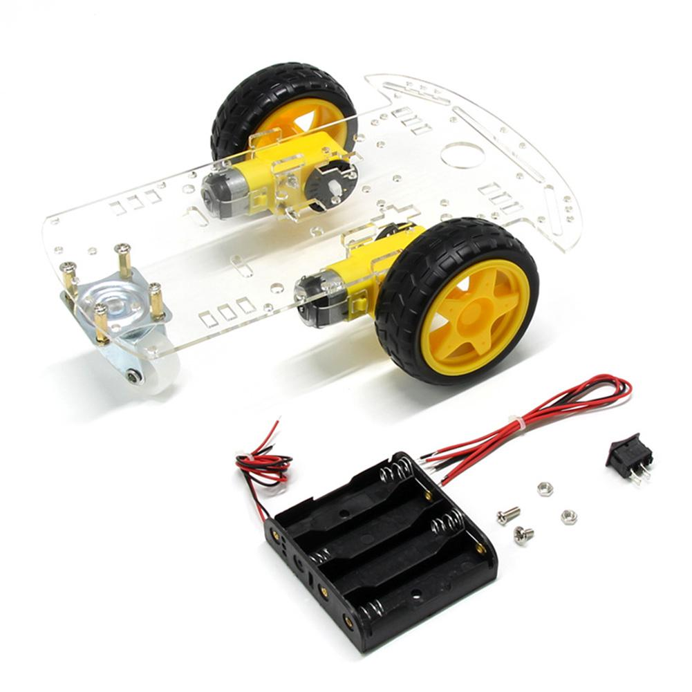 Ultrasonic Model Kids 2wd Toy Robot Educational Tracking Motor Diy
