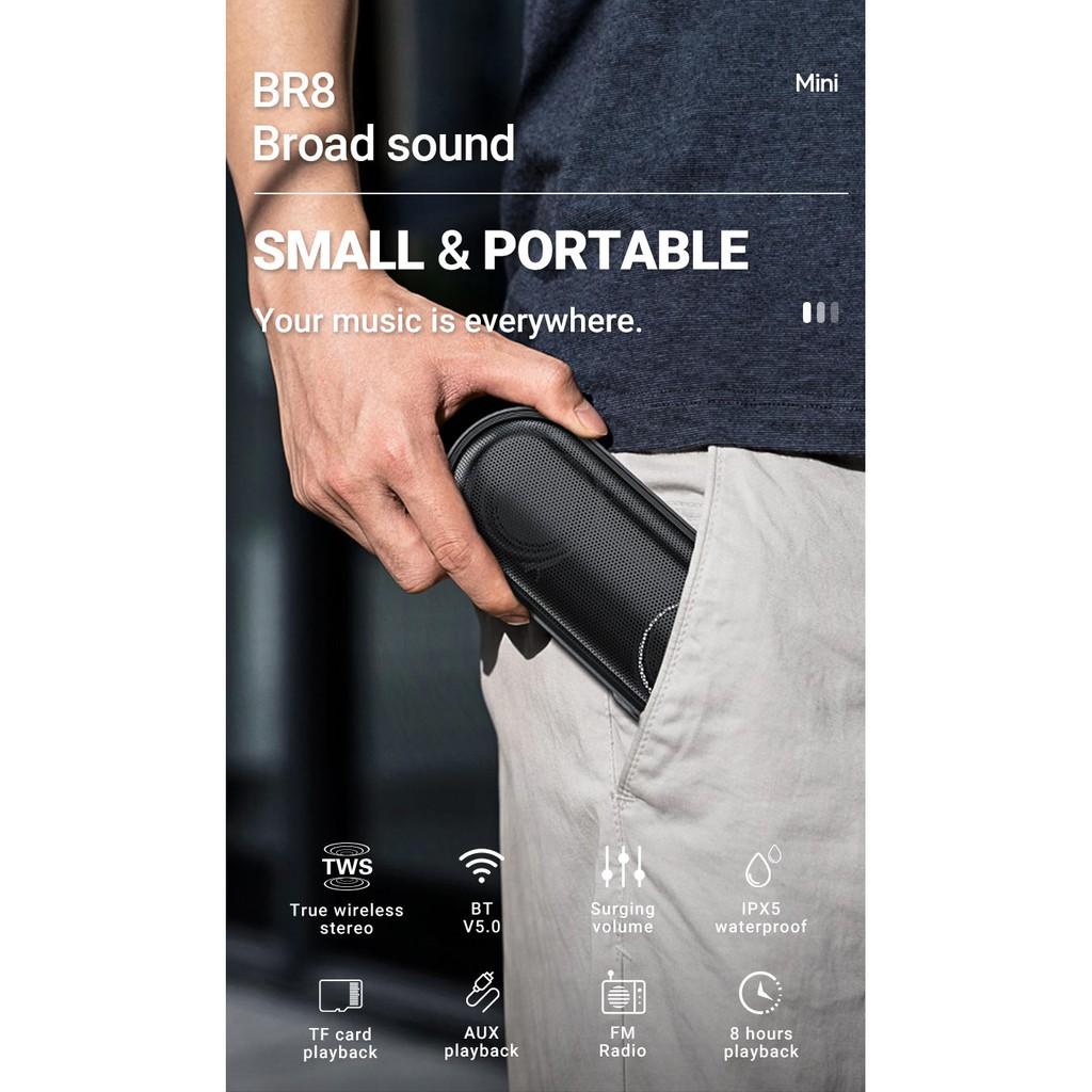 Loa bluetooth cao cấp Borofone BR8 Broad hỗ trợ AUX, TF card, USB, FM radio - Hãng phân phối