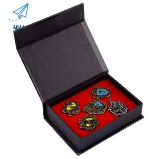 1-Box(5PCS) Creative Badge Hogwarts Harry Potter Brooch Pin Party Jewerly Gift
