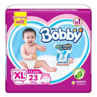 """Tã Dán Bobby Siêu Thấm Khô Thoáng XL23 giá chỉ còn <strong class=""""price"""">3.700.000.000đ</strong>"""