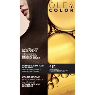 [NÂU LẠNH] Thuốc nhuộm tóc không Amoniac Olea Color ITALY Màu 481 Cold Brown - Thegioimakeuppro thumbnail