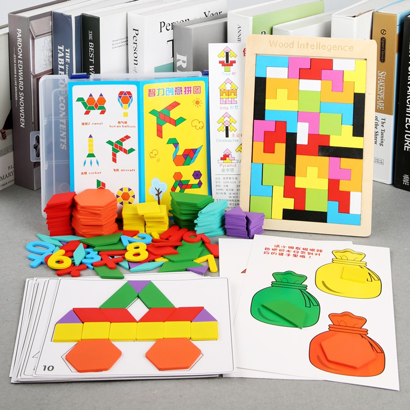 7 Heptum PuzzleS Kids Puzzle Toys 2-3-6-year-old baby brain develops