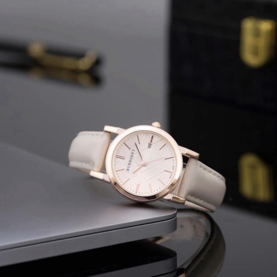 Đồng hồ nữ mặt tròn dây da cao cấp