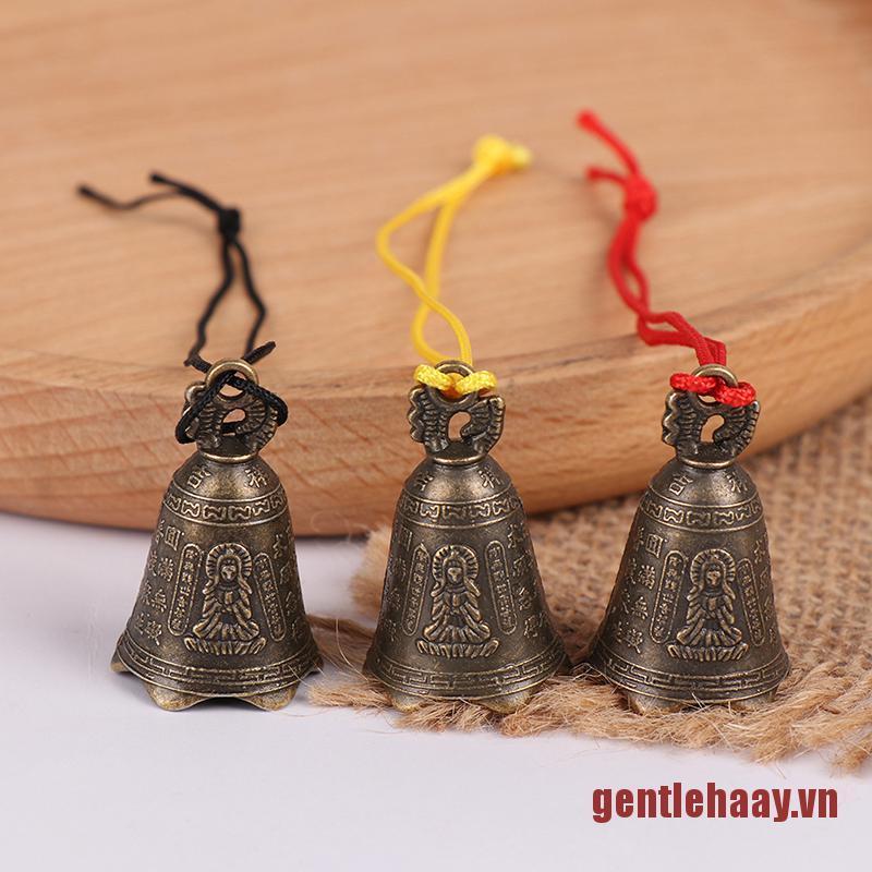 GTLH 1pc Antique Bell Chinese Mini Sculpture Pray Guanyin Buddha Bell Shui Feng Bell