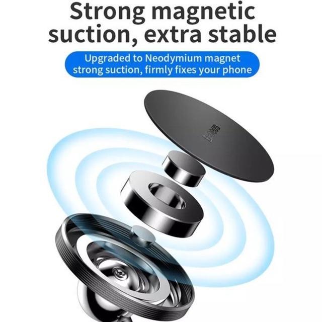 Bộ đế giữ điện thoại nam châm Baseus Little Sun Magnetic LV490 (360 Degree Rotation Magnetic Car Mount Bracket)