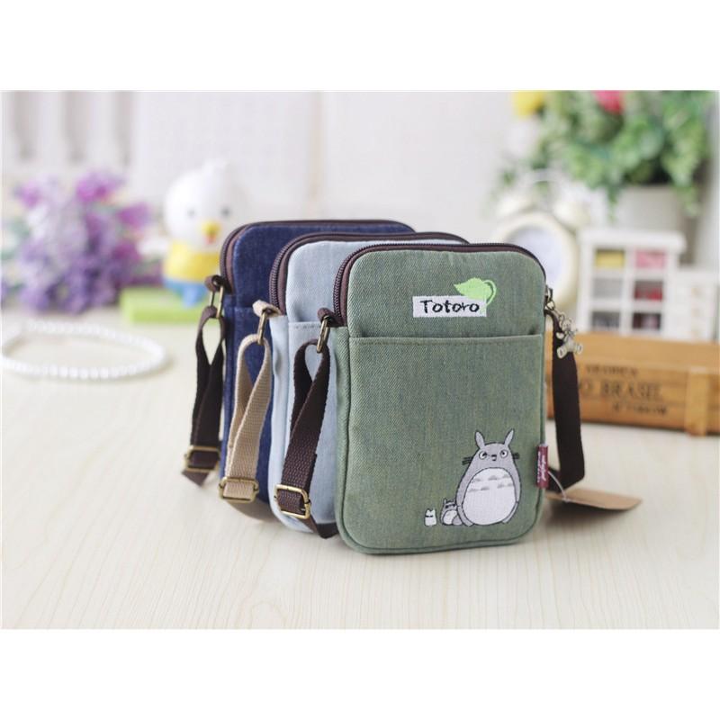 Túi đeo chéo nữ Vải thêu cá tính Totoro