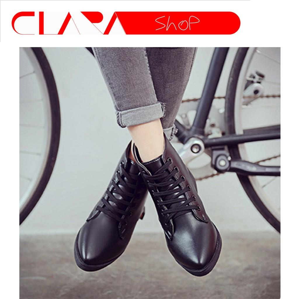 Giày Boots Da Cao Cổ GSP 1091