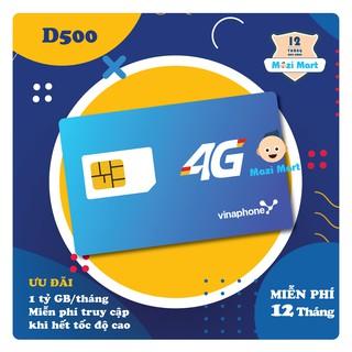 Sim 4G Vinaphone D500 – 5Gb/tháng – Miễn phí 12 tháng