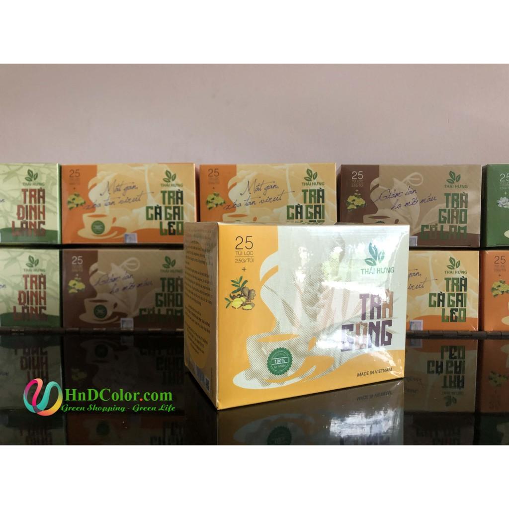 [CHÍNH HÃNG] Trà Gừng Thái Hưng (trà thảo dược, 100% tự nhiên, hộp cao cấp) - làm ấm cơ thể, tăng cường tuần hoàn máu
