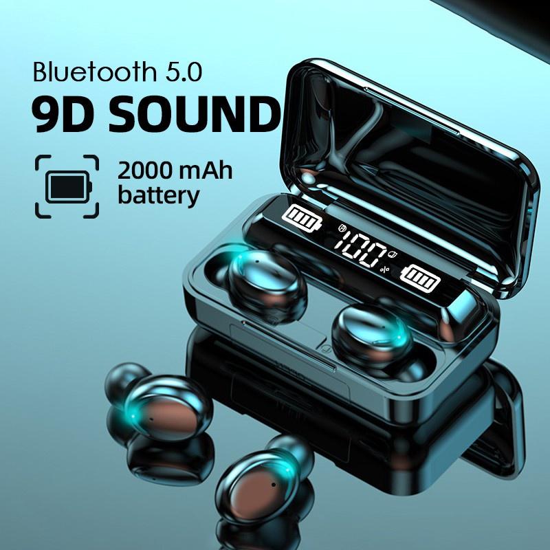 tai nghe không dây Aivk 9d Âm Thanh Siêu Trầm 2000mah Tws 5.0 Chống Nước Ipx7 Cho Android Xiaomi Iphone
