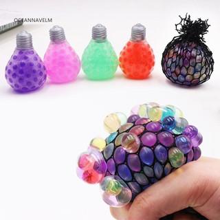 Dụng cụ đồ chơi bằng cao su dẻo hình bóng đèn dùng để bóp giúp giảm căng thẳng
