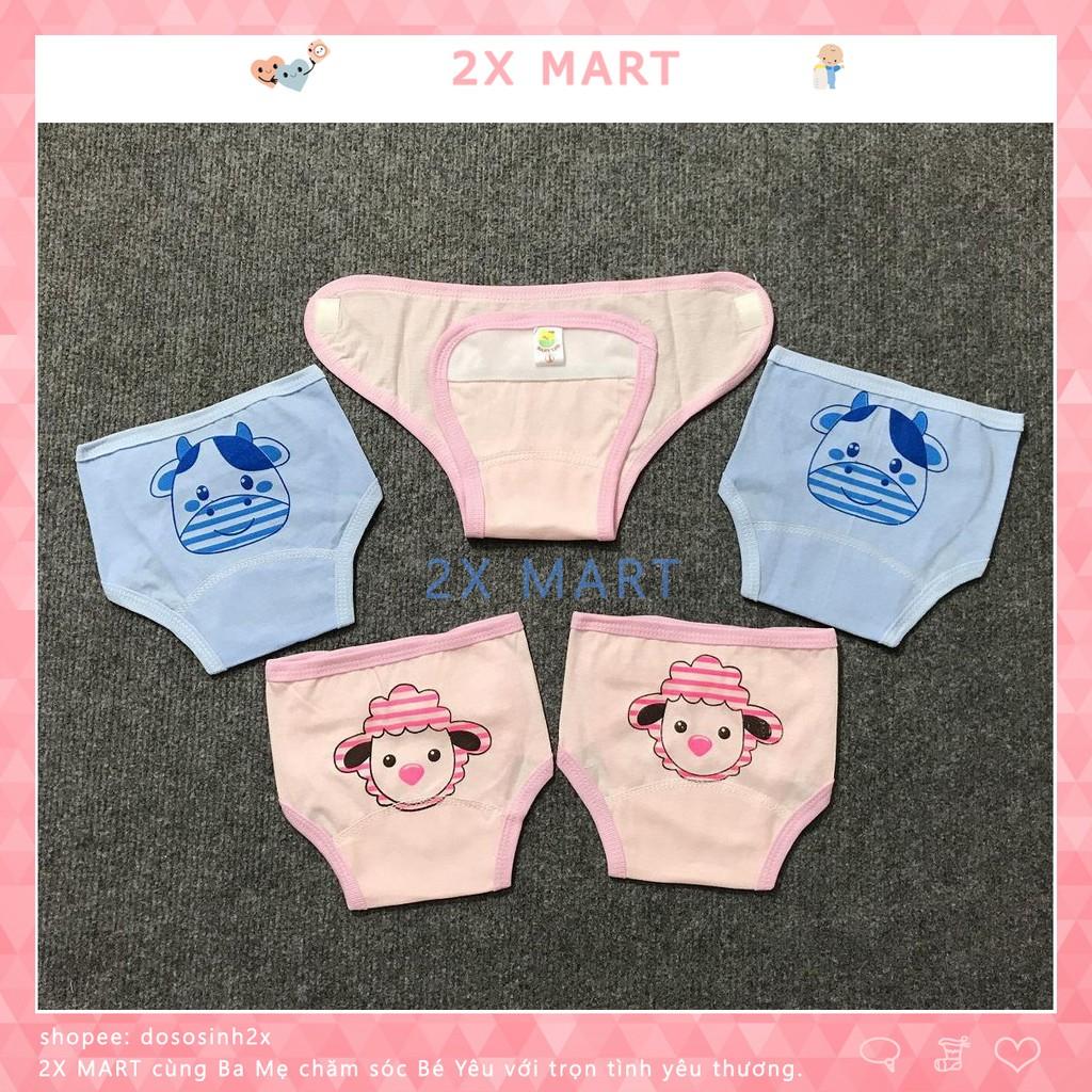 Quần Đóng Bỉm Baby LEO cho bé từ 3kg - 8kg. Quần Dán Tã Giấy Tấm Lót Em Bé Cotton Mềm Mại - 2X MART