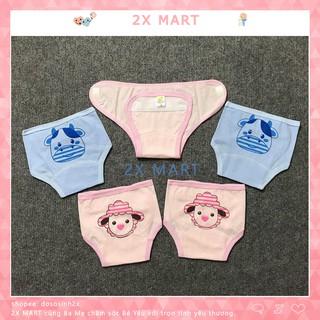 Quần Đóng Bỉm Baby LEO cho bé từ 3kg - 8kg. Quần Dán Tã Giấy Tấm Lót Em Bé Cotton Mềm Mại - 2X MART thumbnail
