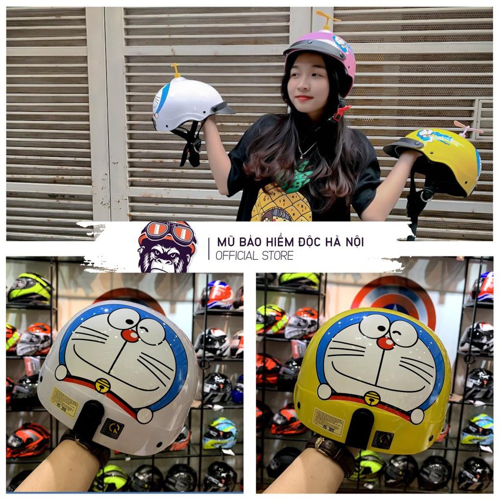 [CAO CẤP - SALE 50%] Mũ bảo hiểm tiêu chuẩn HR1 - Doraemon