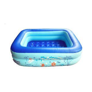 Bể bơi 2 tầng Ice Cream 120cmx85cmx35cm màu xanh cho bé