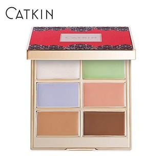 CATKIN (Hàng Mới Về) Bảng Kem Che Khuyết Điểm Chỉnh Sửa Màu Da 6 Màu