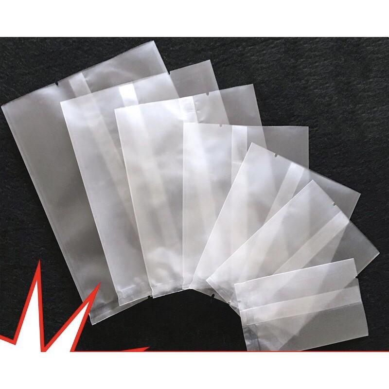 100 Túi trắng mờ hàn miệng đựng bánh kẹo , trà
