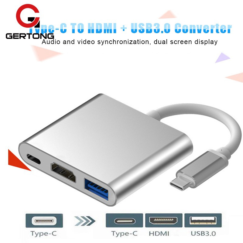HUB chuyển đổi cổng Type C sang HDMI USB 3.0 + USB-C + USB 3.0 cho Macbook Pro Pixel