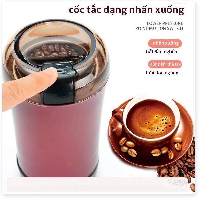 Máy nghiền bột đa năng mini - Máy xay bột siêu mịn - Xay Ngũ Cốc, Cafe, Các hạt gia vị...