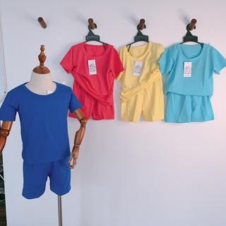 Sp00032 - Bộ cotton trơn bé trai bé gái thumbnail